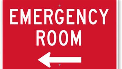 Emergency Room Left Sign K 8904 L mitche